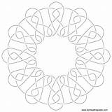 Embroidery Coloring Pattern Knotwork Fudge Patterns Knot Hand Template Paste Eat Don Sketch October sketch template