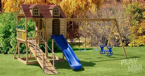 amish swing sets wooden playsets built in ohio s amish country playmor