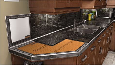 ceramic tile on countertops in kitchen black tile countertops tile design ideas 9394