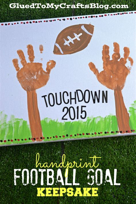 handprint football goal keepsake glued to my crafts 334 | football keepsake cover1