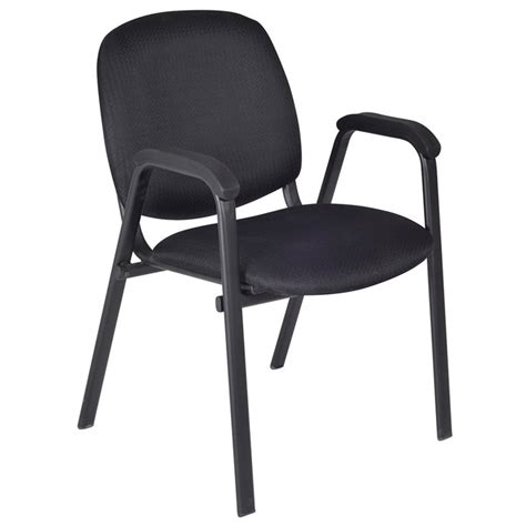 Regency Office Furniture Ace Padded Stacking Arm Chair