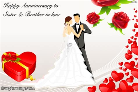 happy anniversary wishes  sister  brother  law