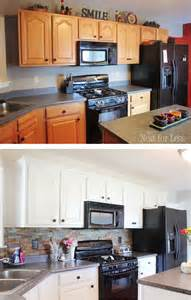 stainless steel backsplash kitchen kitchen cabinet makeover reveal how to nest for less