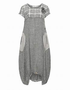 zedd plus robe d39ete en lin et coton en anthracite creme With robe coton ete