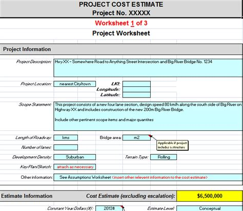 cost estimate project cost estimating spreadsheet for contractors