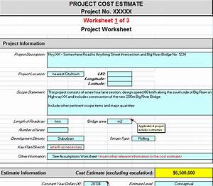 Project cost estimating spreadsheet for contractors for Software development cost estimation template