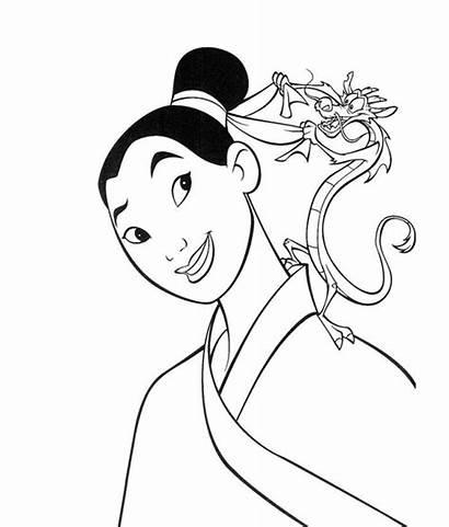 Mulan Coloring Pages Disney Mushu Colouring Clipart