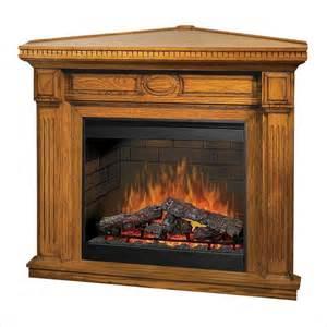 Oak Corner Electric Fireplace