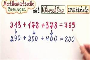 Wurzel Schriftlich Berechnen : video rechnen mit berschlag so gelingt es ihnen ~ Themetempest.com Abrechnung