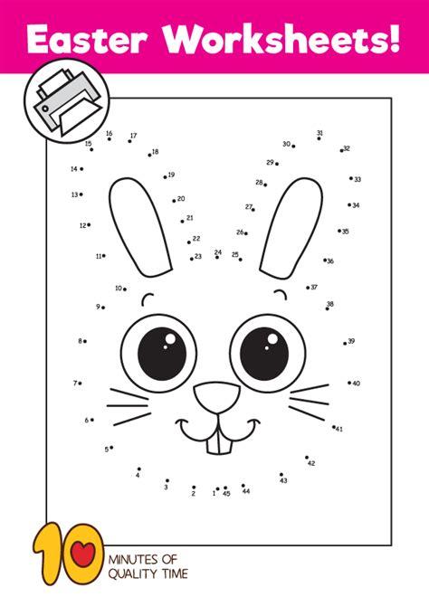 bunny dot  dot worksheet  minutes  quality time