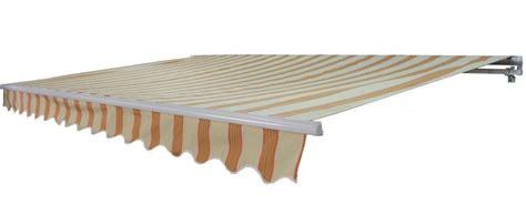 aleko  feet retractable patio awning multistripes yellow       check
