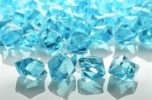 Water Blue Colored Gemstones, Acrylic (3/4 lb Bag) Acrylic