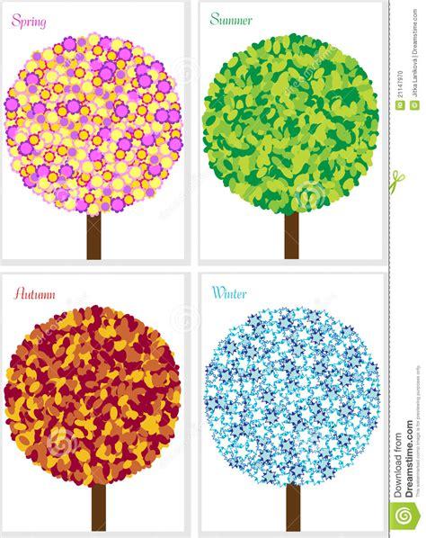 Illustration Of Four Seasons Tree Isolated On Whit Stock Illustration  Image 21147970