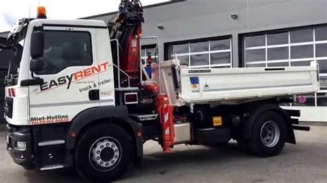 rückewagen mit kran 18 340 tgm kipper mit kran
