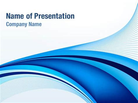 abstract blue wavy background ppt template abstract blue ribbon powerpoint templates abstract blue