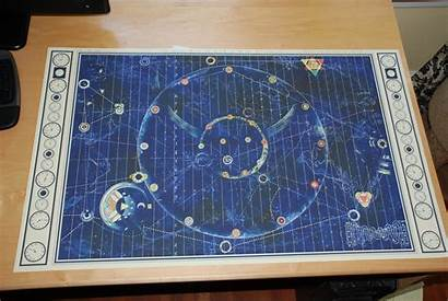 Bandits Map Printed Finished Frame Prop Need