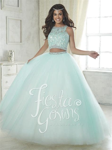 Fiesta 56317 Two Piece Ball Gown with Lace Top Sweet 16