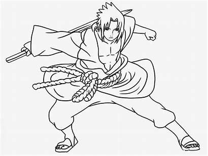Naruto Coloring Anime Manga Printable Sasuke Fox