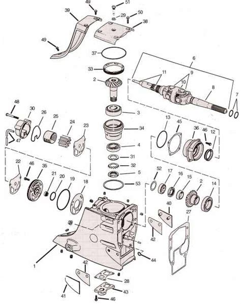 Omc Cobra Parts Drawing Upper Gearcase