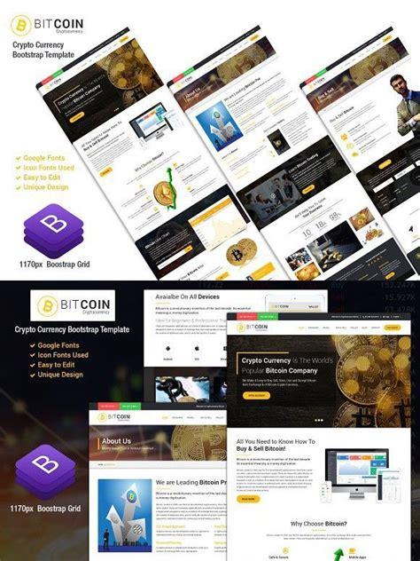 Bitcoin cryptocurrency responsive website template. BitCoin-Responsive Website Template | Responsive website template, Website template, Templates