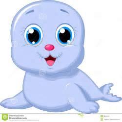 Cute Cartoon Baby Seals