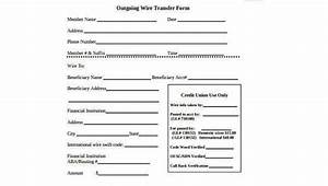 Wire Transfer Form Samples