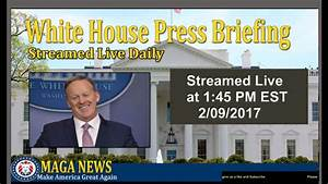 MAGA News Stream Press Briefing from earlier Today Press ...