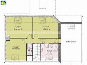 plan maison a etage 4 chambres systembaseco With plan maison tage 4 chambres