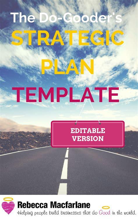 strategic plan template editable version strategic