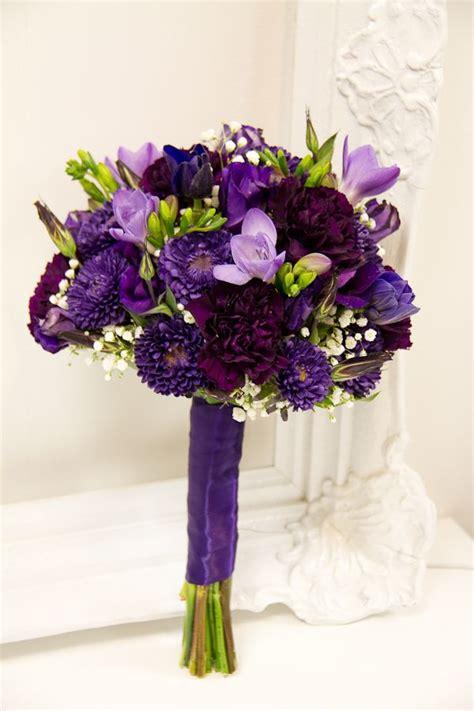 affordable purple wedding flower bouquet bridal bouquet