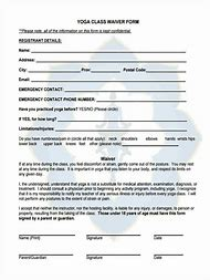 Yoga Waiver Release Form Template