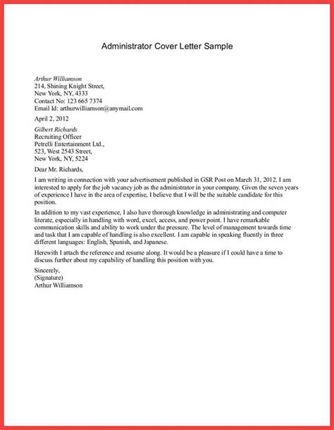 content writer cover letter