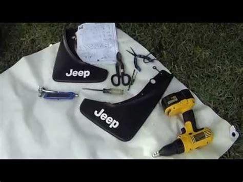 jeep grand cherokee splash guard installation youtube
