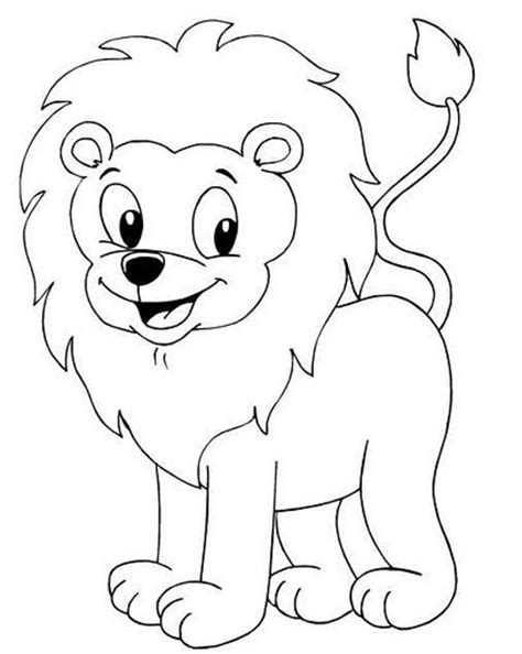 menta mas chocolate recursos  actividades  educacion infantil dibujos  colorear leon