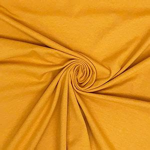 mustard yellow solid cotton spandex knit fabric girl charlee