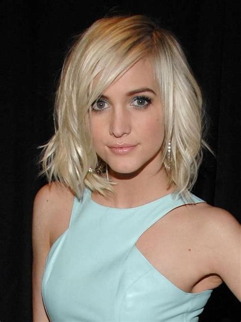 short medium hairstyles  oval faces  hairstyles