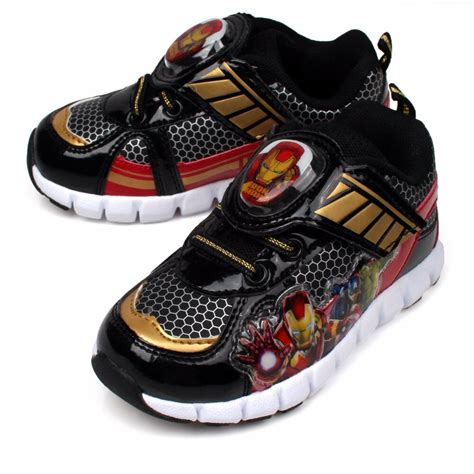 Boys Light Up Shoes by Marvel Light Up Boys Shoes Sneakers Velcro