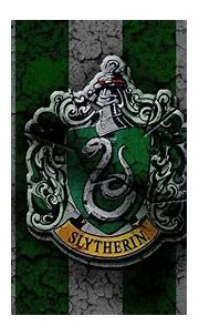 Slytherin Logo In Green White Stripes Background HD ...