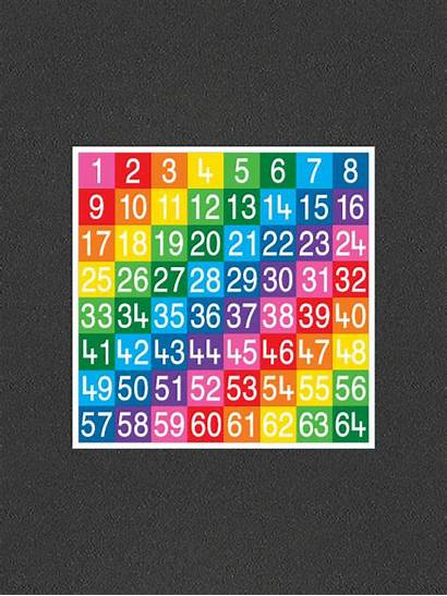 Number 64 Grids Grid Solid Thermmark
