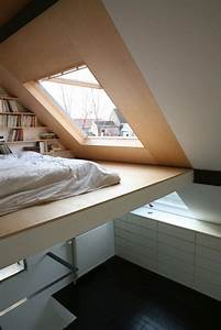 Vaulted ceiling with a loft bed space bedrooms