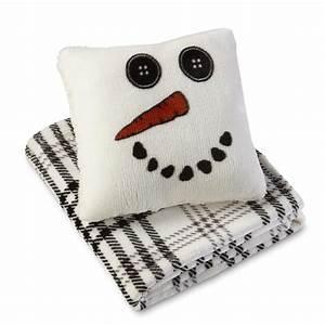 cannon pillow throw set snowman plaid shop your With cannon pillows amazon