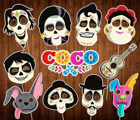disney coco photo booth props instant  day