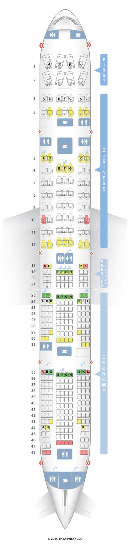 plan siege boeing 777 300er seatguru seat map air boeing 777 300er 77w four