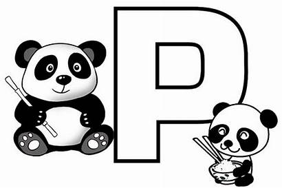 Letter Coloring Fun Panda Pages Educational