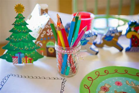 grab  quick items   cutest christmas kids table