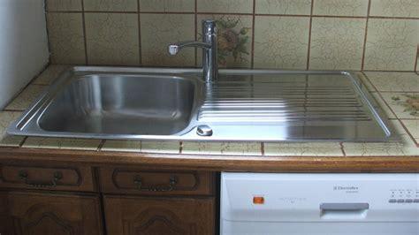 evier cuisine angle remplacer et poser un évier en inox