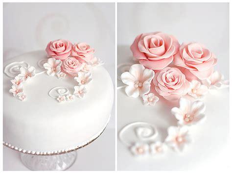 cake beautiful design flowers white image