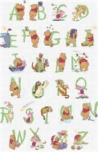 Winnie the Pooh Cross Stitch Alphabet Chart