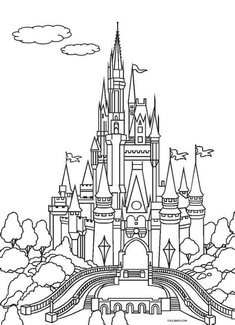 coloring page cinderella  castle coloring pages