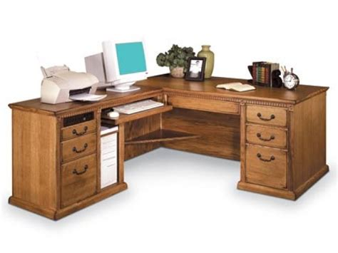office desk with return americana l shaped office desk w left return mac 684l